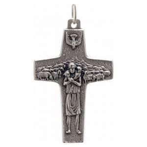 Zawieszki krzyż metal: Zawieszka krzyż papież Franciszek metal 4 X 2,5