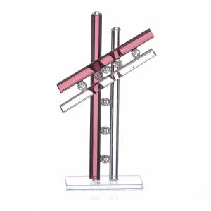 Regalos y Recuerdos: Cruz Vidrio Murano Violeta h.12 cm