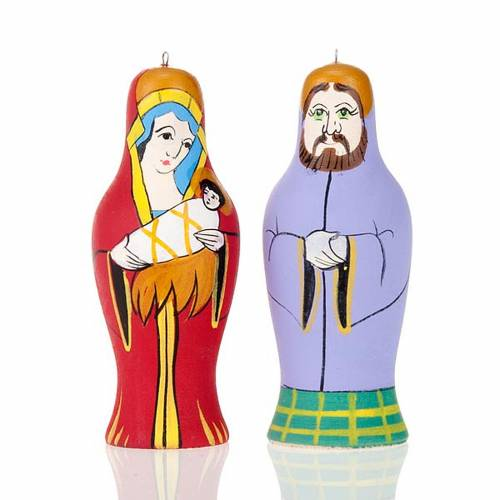 Russian hand-painted nativity set s3