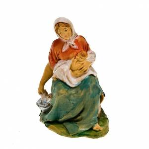 Nativity set figurine, mother with baby 10cm s1
