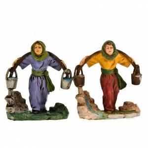 Nativity set figurine Man with water buckets 10cm s1