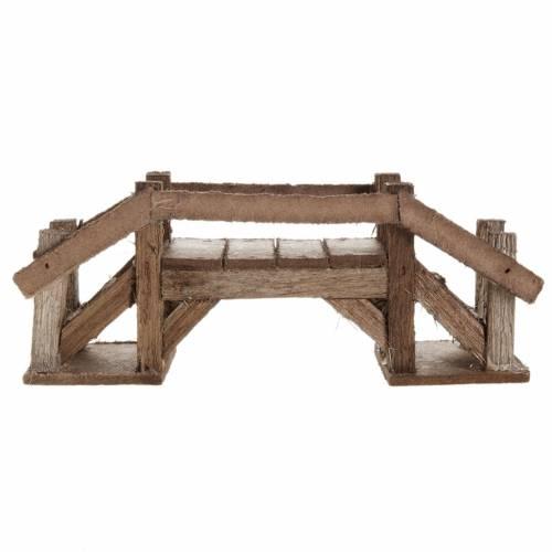 Accessoire crèche noël pont en bois foncé s2