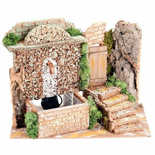 Accessory for do-it-yourself nativity sets: electrical fountain s1