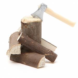 Accetta con legna 5x5x8 cm s1