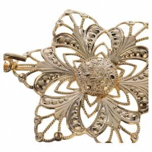 Chapes, Chasubles Romaines, Dalmatiques: Accroches dorés fleur pour chape