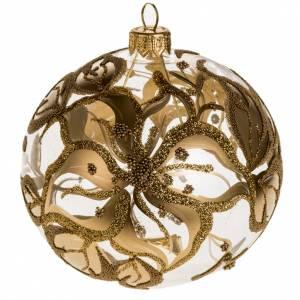 Addobbo albero vetro soffiato oro decori 10 cm s1