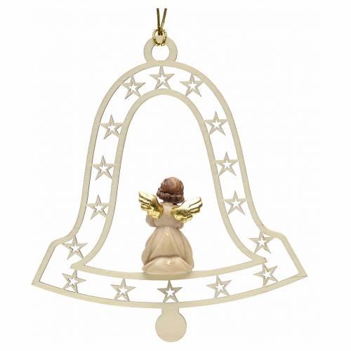 Addobbo natalizio angelo che prega campana s2