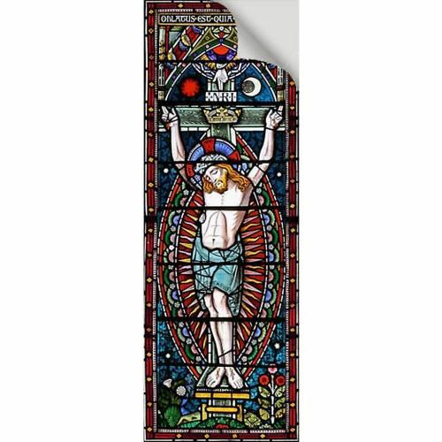 Adhesivo Crucifixión 10,5 x 30 cm s2