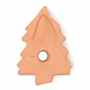 Aimant terre cuite Sapin de Noël s2