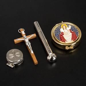 Bursy i zestawy podróżne dla księdza: Aktówka z cyborium kropidłem krzyżem i stułą