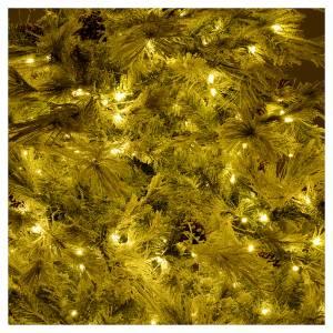 Albero di Natale 270 cm brinato pigne e brillantini 700 luci led s6