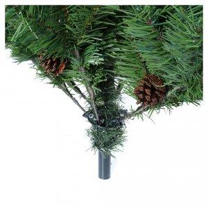 Albero di Natale verde 150 cm con pigne slim memory shape Norimberga s5