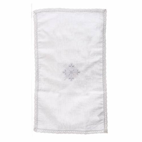 Altar linens, Purificator in linen and polyester s4