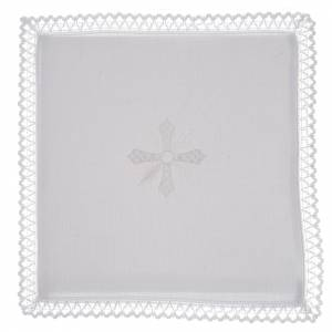 Altar linens, set of 4, 100% linen, cross embroidery s1