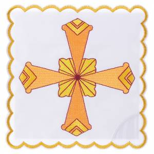 Altar linens set with yellow cross s1