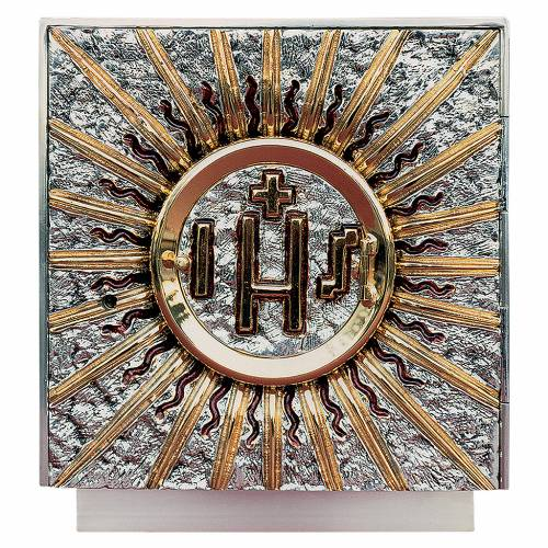 Altar tabernacle bicolor brass, squared s1