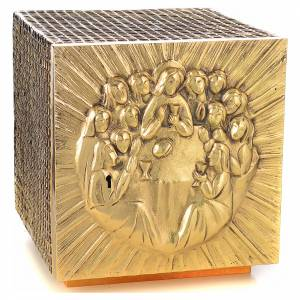 Altar Tabernacle in brass and resin with the last supper, Molina s1