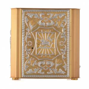 Altar tabernacle Lamb of God and Angel with exhibitor s1