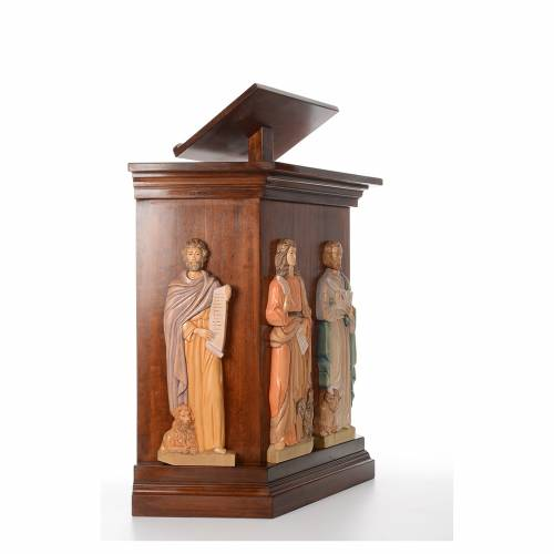 Ambo, hand carved with 4 evangelists in relief 130x90x45cm s4
