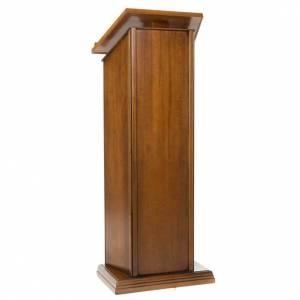Atriles con columna: Ambón de madera de nogal