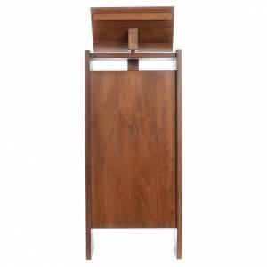 Atriles con columna: Ambón de madera maciza, con altura regulable 130x50x35cm