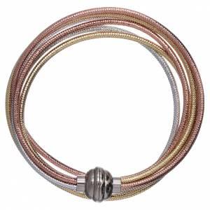 AMEN bracelets: AMEN golden colour bracelet in rosè and silver