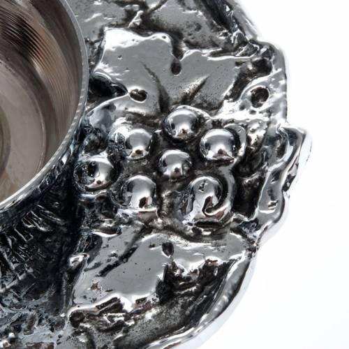 Ampolline bronzo argentato con uva s2