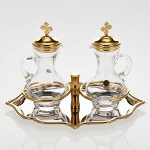 Ampolline vetro piatto dorato nichelato s2