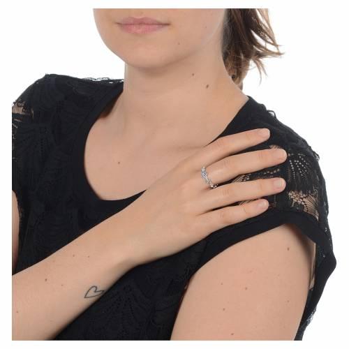 Anello decina argento 800 Swarovski trasparenti s3