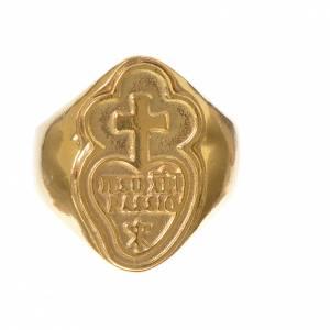 Anello vescovile argento 800 dorato Passionisti s2