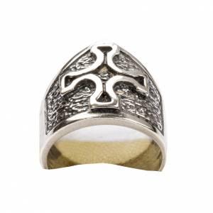 Anello vescovile croce argento 800 s6
