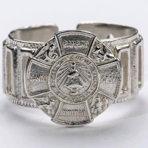 Anello vescovo argento 800 Gesù Bambino s3