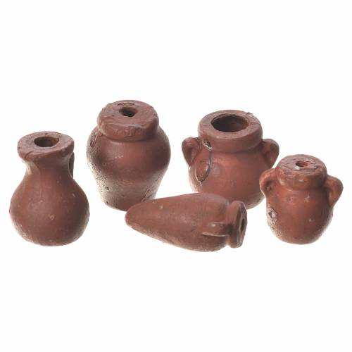 Anfore assortite presepe 5 pz terracotta s1