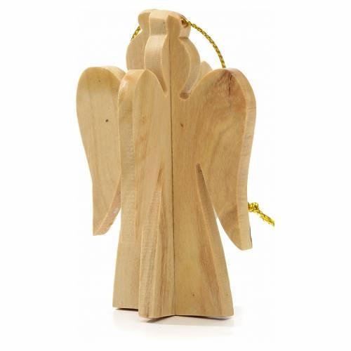Ange à suspendre au sapin en bois d'olivier Terre Sainte s1