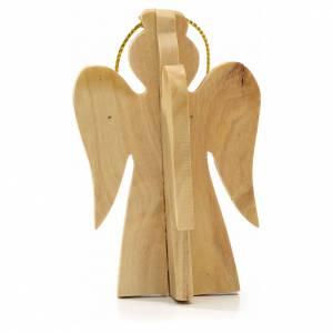 Ange à suspendre au sapin en bois d'olivier Terre Sainte s2