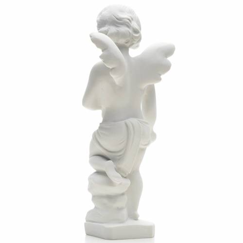 Angel and flowers in Carrara marble 9,84 in s2