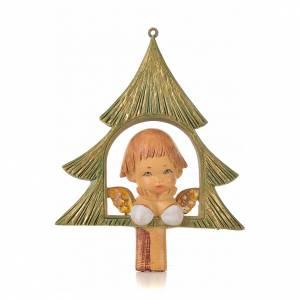 Angelito con árbol de navidad cm. 9 Fontanini s1