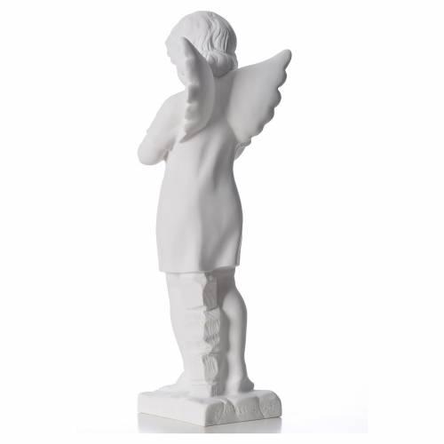 Angelito manos juntas mármol Carrara 45 cm s3