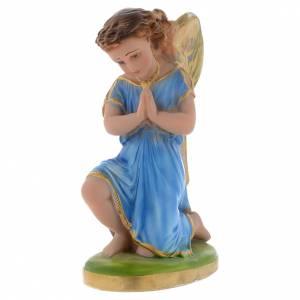 Statue in gesso: Angelo azzurro in preghiera 25 cm gesso