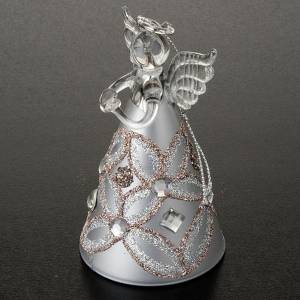 Angelo vetro con glitter e strass addobbo di Natale s4