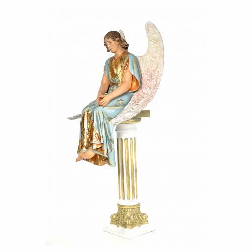 Angelo seduto sul sepolcro 110 cm pasta di legno dec. extra 2