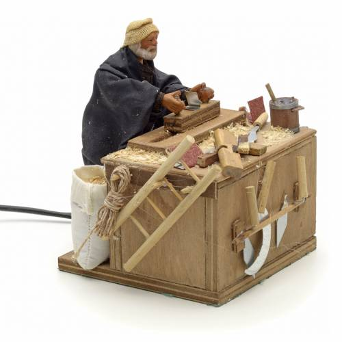 Animated nativity scene, carpenter 12 cm s2