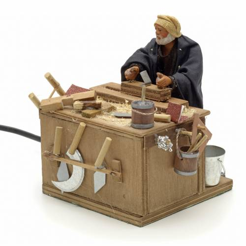 Animated nativity scene, carpenter 12 cm s3