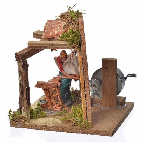 Animated nativity scene figurine, carpenter, 10 cm s2