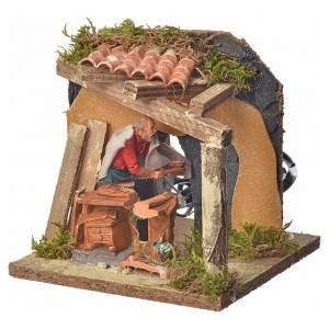 Animated nativity scene figurine, carpenter, 10 cm s1