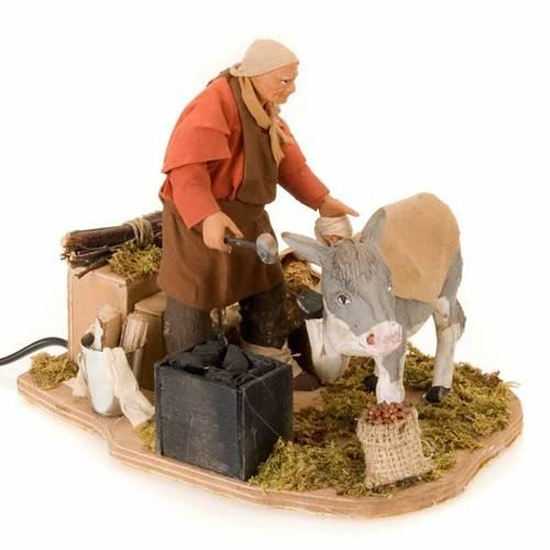 Animated nativity scene figurine, farrier 14 cm s2