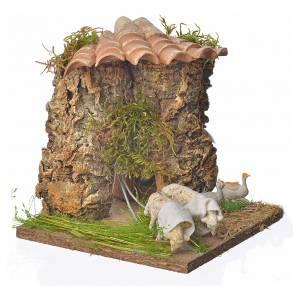 Animated nativity scene figurine, sheep browsing 12-18cm s3