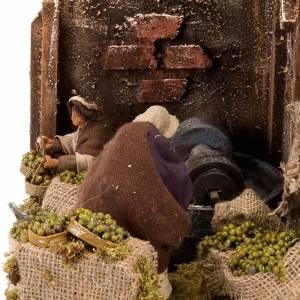 Animated nativity scene, oil mill scene 12 cm s3