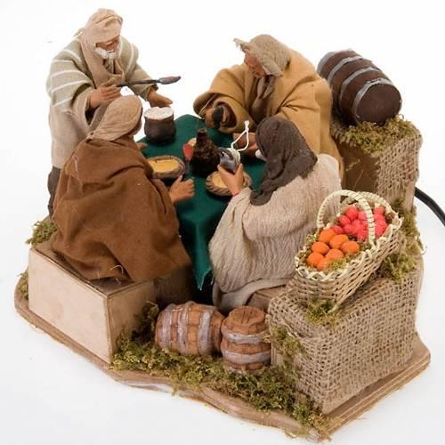 Animated nativity scene set, 4 characters 12 cm s3