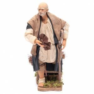 Neapolitan Nativity Scene: Animated Neapolitan Nativity figurine Man limping 30cm